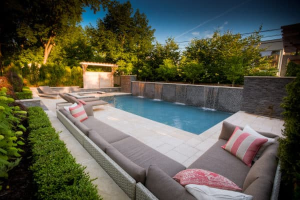Natural Stone Poolside Project by STONEarch - Sunset (Granite) Pavers and Copings